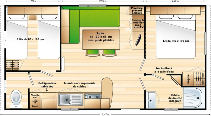 mobil home hy res 4p le blog lhc plages nature sport et d couverte. Black Bedroom Furniture Sets. Home Design Ideas